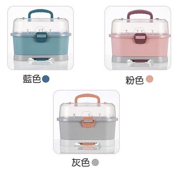 【南紡購物中心】輕便奶瓶收納箱1入