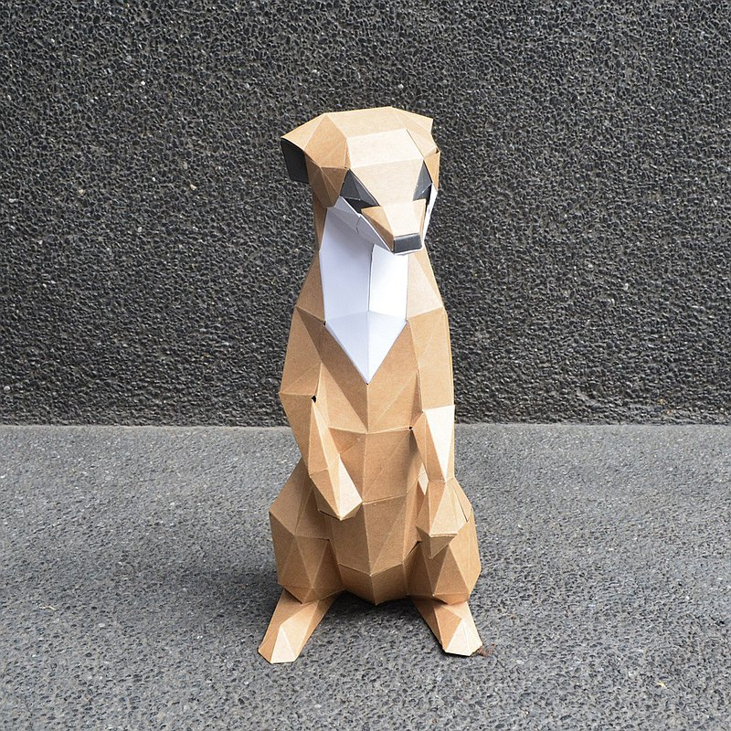 正版匠紙_DIY材料包_手作_紙模型_禮物_卡哇咿小狐獴擺飾