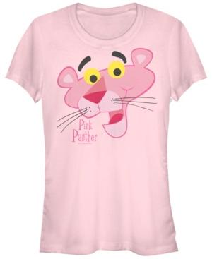 Fifth Sun Pink Panther Juniors Big Face Short Sleeve Tee Shirt