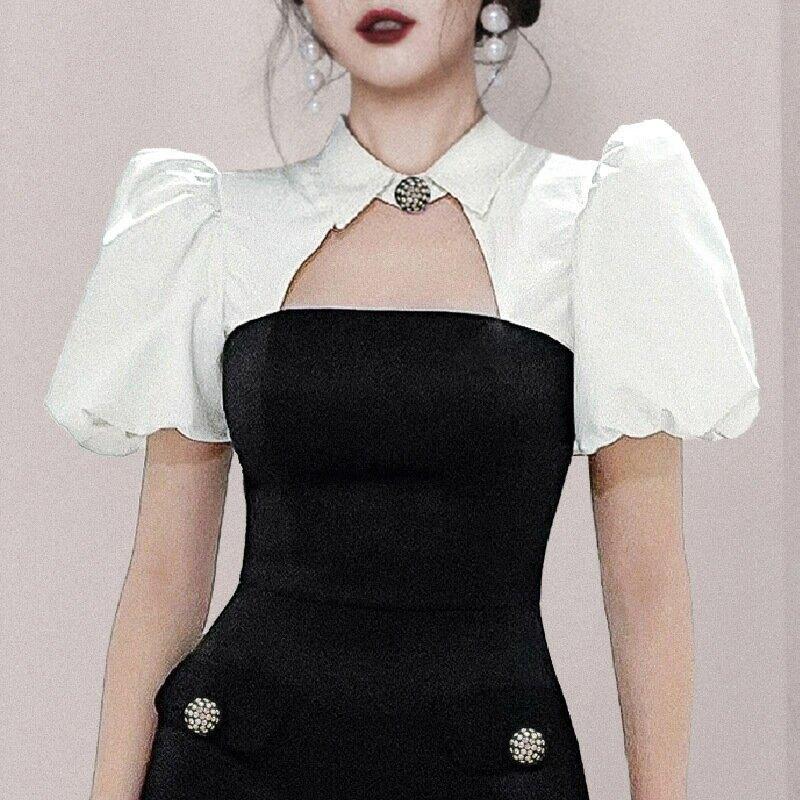 2021夏季輕奢小衆設計感晚裝宴會禮服裙高端生日名媛氣質連衣裙