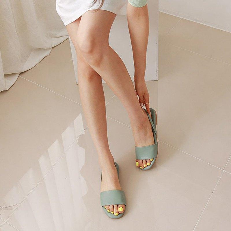PRE-ORDER韓國人手製 MACMOC Candy Mint 涼鞋