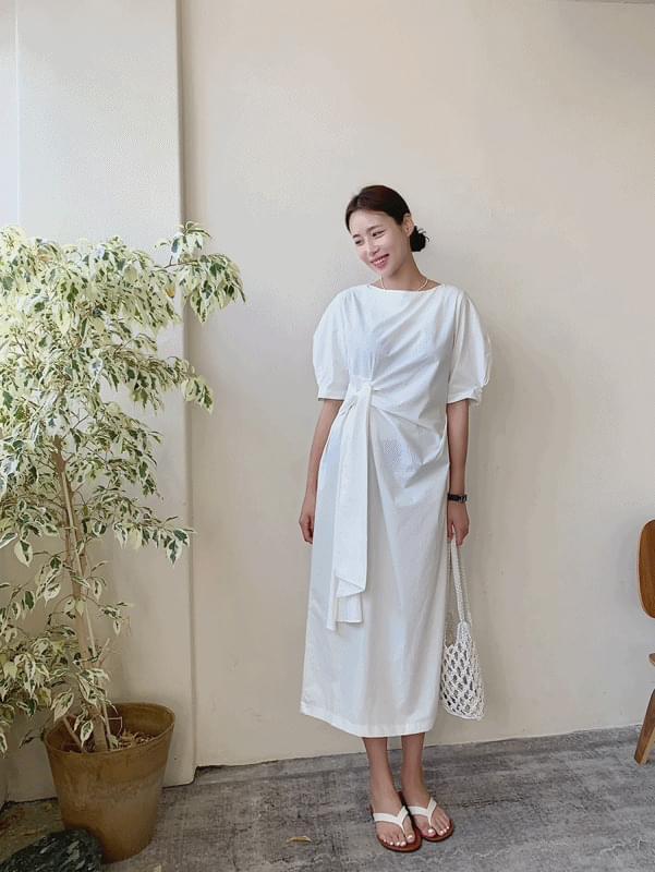 韓國空運 - rowing strap Dress 長洋裝