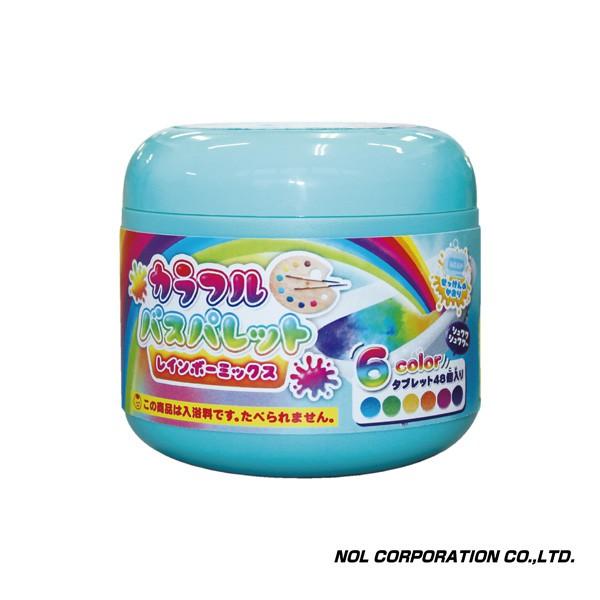 Weicker 唯可 日本NOL-趣味調色盤入浴錠(彩虹)-超值罐裝組【佳兒園婦幼館】