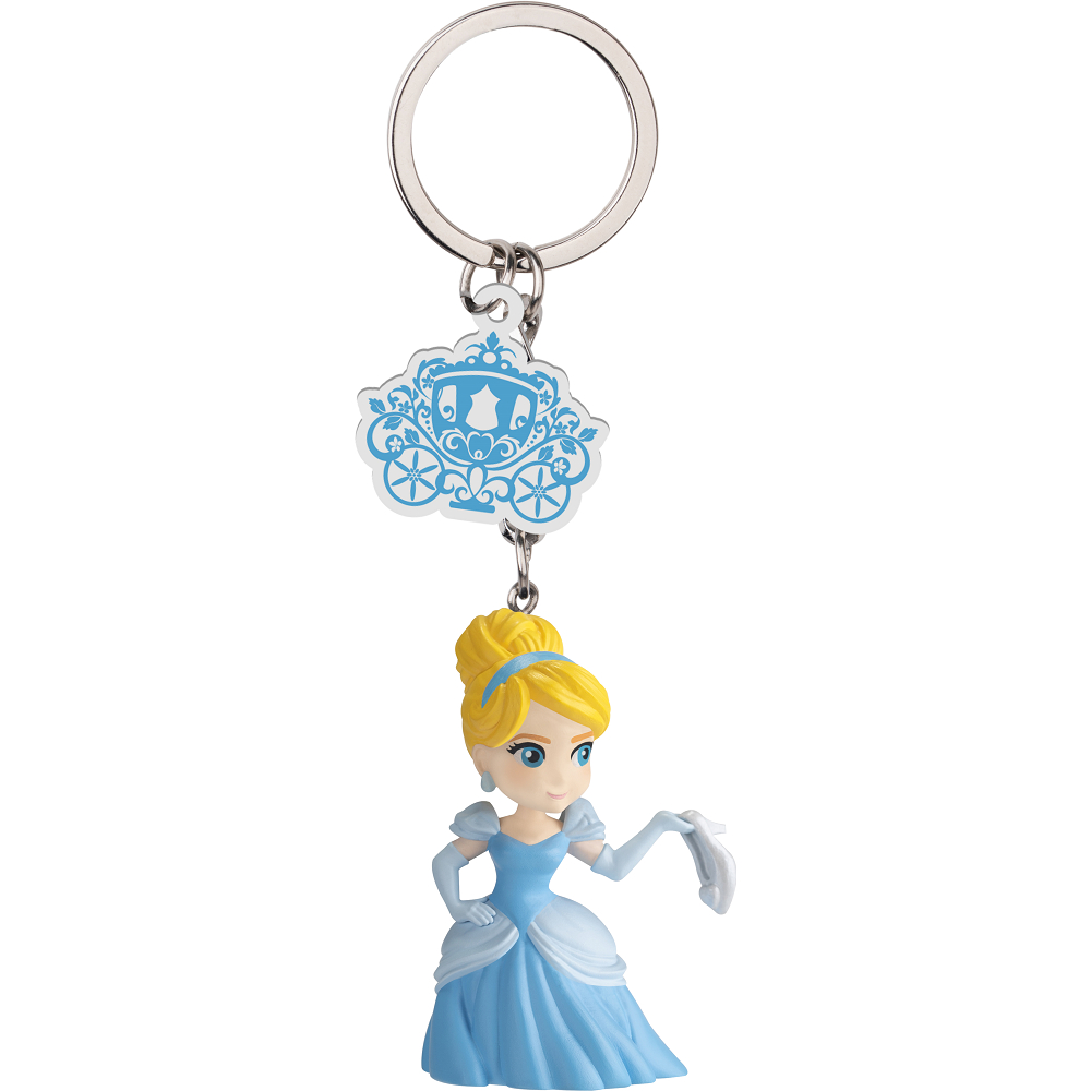迪士尼公主 蛋擊公仔鑰匙圈系列 仙杜瑞拉