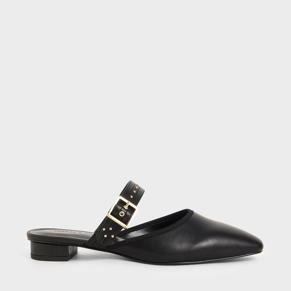 鉚釘帶穆勒鞋