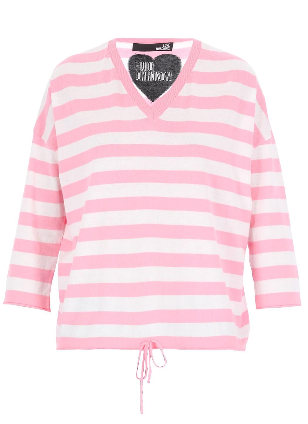 Love Moschino Striped Sweater