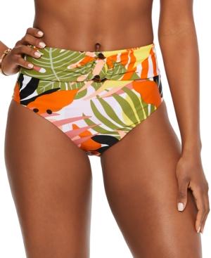Bar Iii Printed High-Rise Bikini Bottoms, Created for Macy's Women's Swimsuit