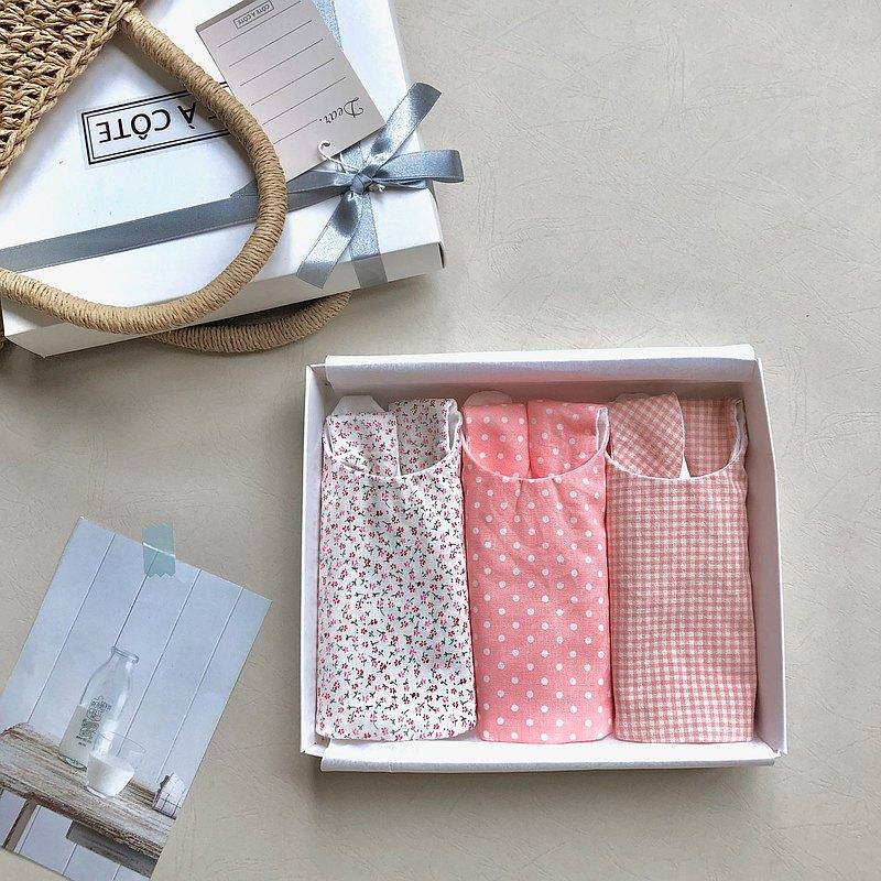【新品優惠-3件組禮盒】活潑可愛印花設計好搭款 口水巾 共九色