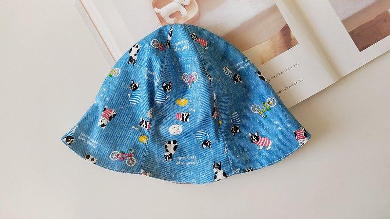 雙面六片帽 小狗  彌月禮物 漁夫帽 嬰兒帽 雙面帽