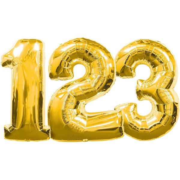 派對城 現貨 【34吋金色數字鋁箔氣球(不含氣)0-9】 生日氣球 鋁箔氣球 數字氣球 字母氣球 派對佈置 拍攝道具