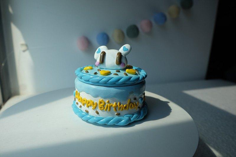【小兔蛋糕收納盒】sleepinghandmade