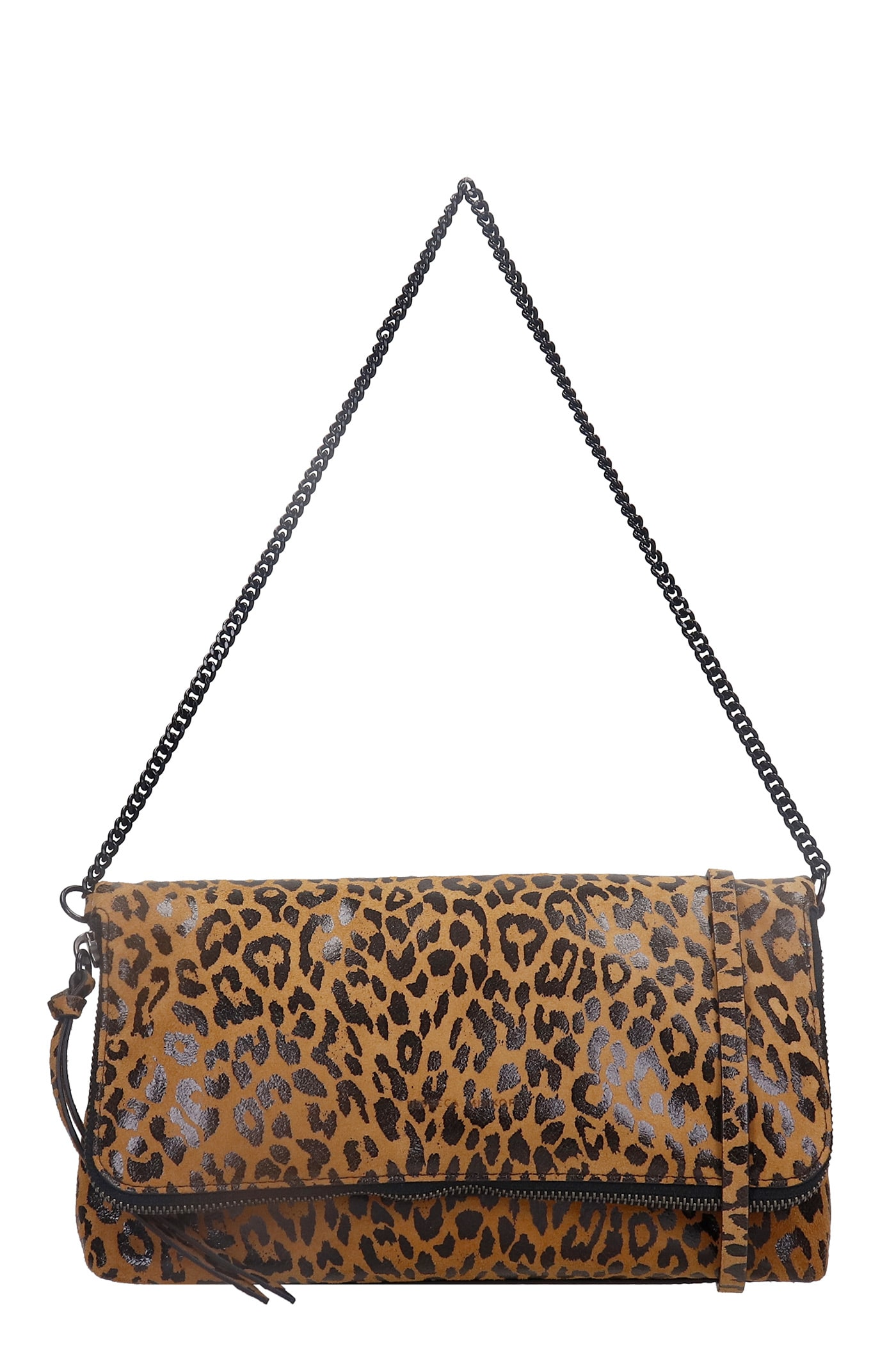 Rebecca Minkoff Date Conv Shoulder Bag In Animalier Leather