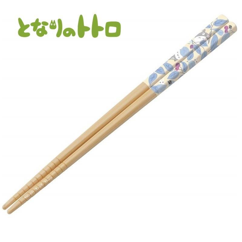 宮崎駿 龍貓 日本限定筷子  龍貓 樹葉堅果版 天然木 竹筷  筷子