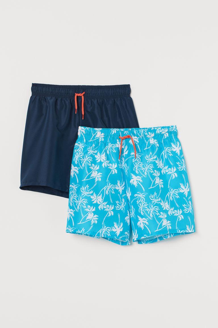 H & M - 2件入泳褲 - 藍綠色