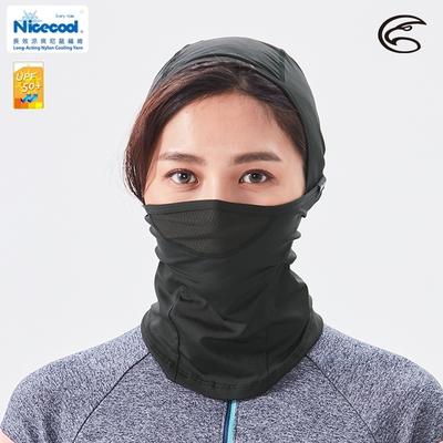 ADISI NICE COOL吸濕涼爽透氣抗UV防曬面罩 AS21026【黑色】