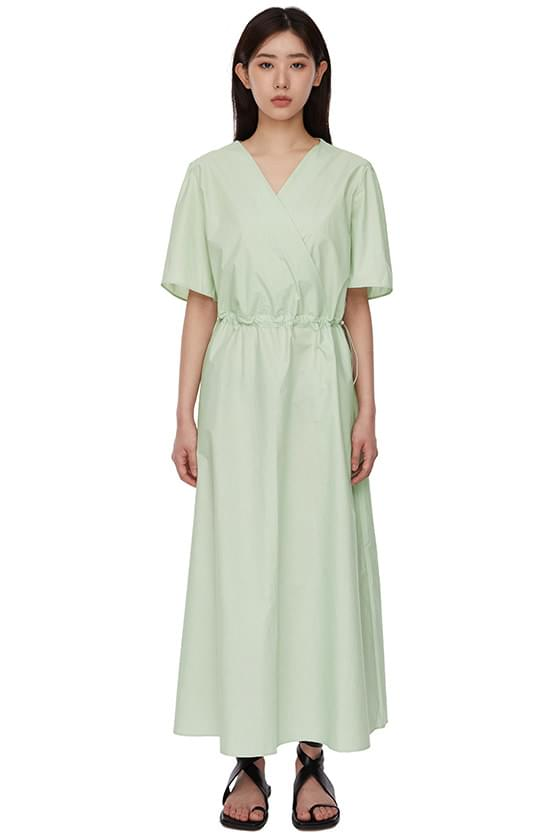 韓國空運 - Baby Wrap Cotton String Long Dress 長洋裝