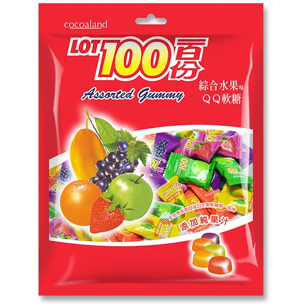 一百份綜合水果味QQ軟糖200g
