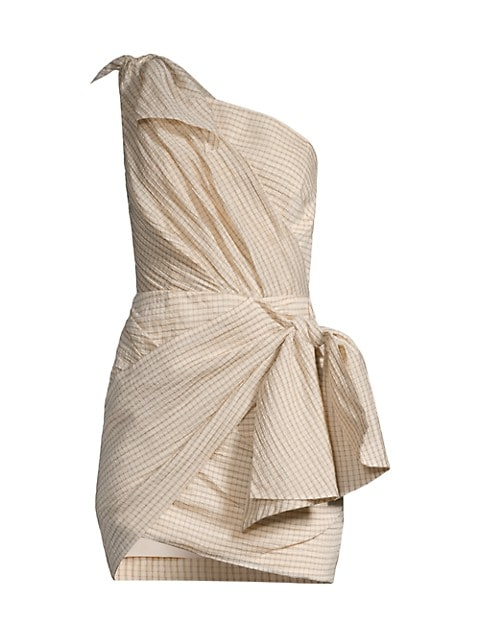 Florence One-Shoulder Tie Dress