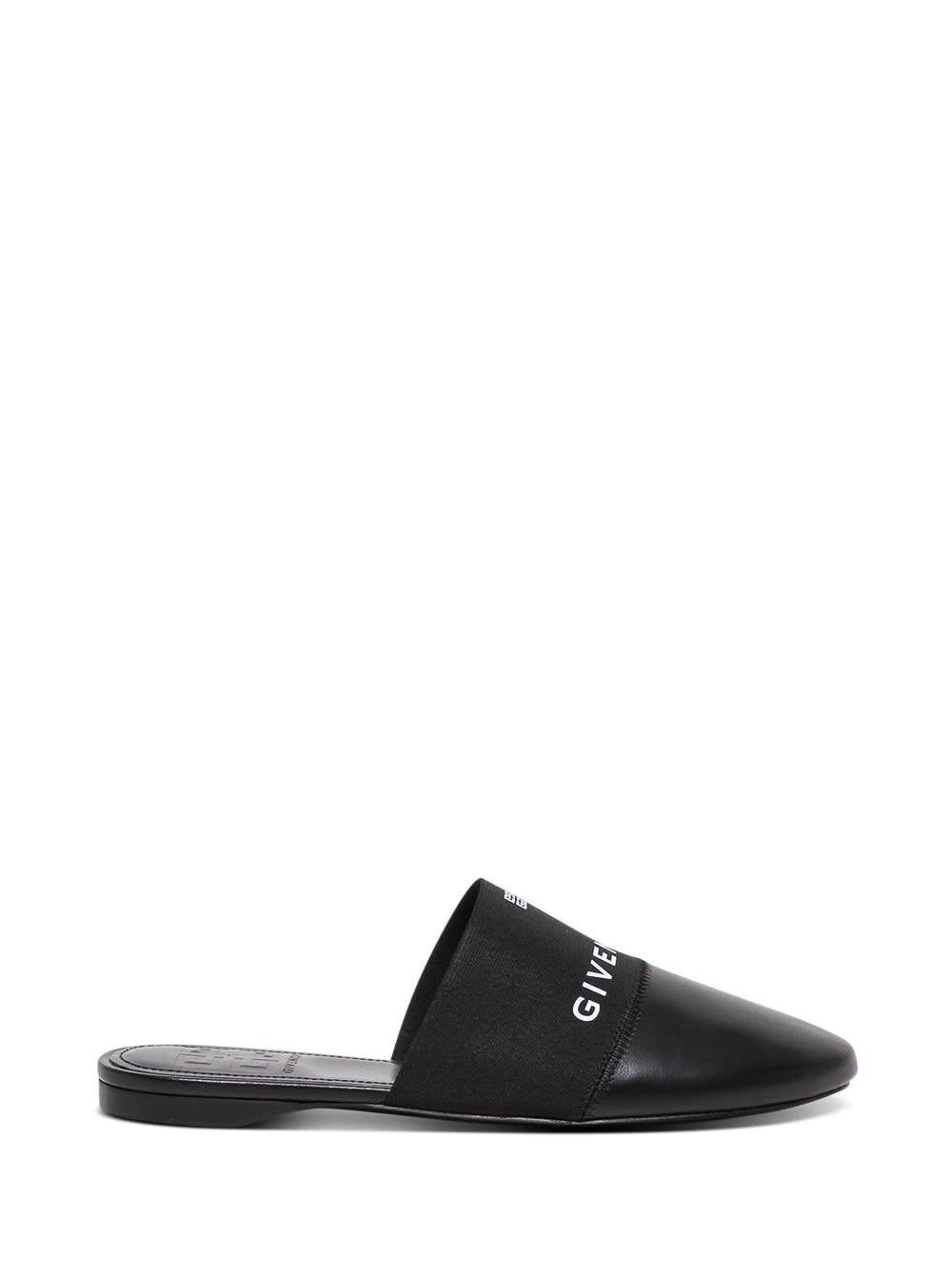 Givenchy 4g Flat Mules In Black Leather