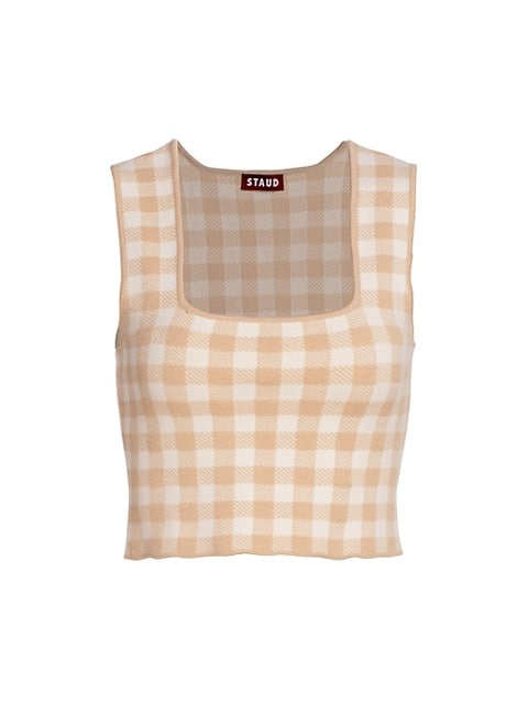 Trial Gingham Cropped Top