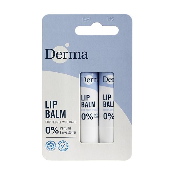 丹麥 Derma 小燭樹植萃護唇膏 兩件組 (4.8gx2入)【BG Shop】