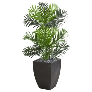 Nearly Natural Paradise Palm Artificial Tree in Black Planter
