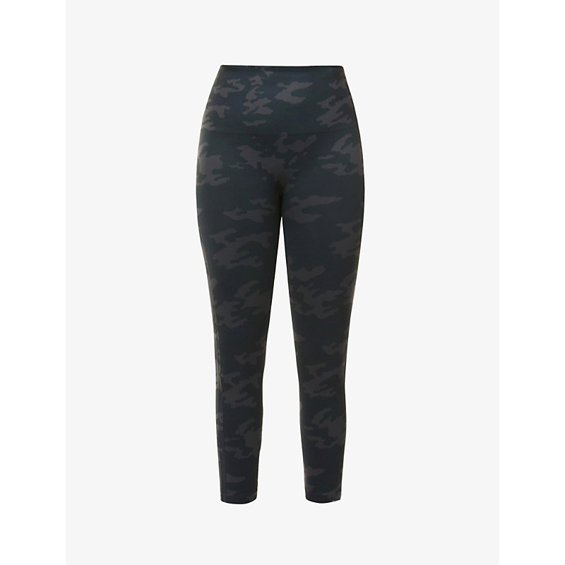 Look At Me Now camo-print cropped high-rise stretch-woven leggings