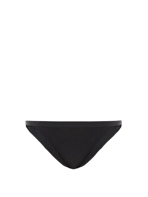 About - Mid-rise Lyocell-blend Jersey Briefs - Womens - Black