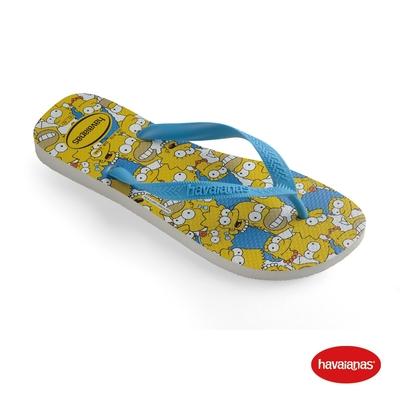 Havaianas哈瓦仕 拖鞋 夾腳拖 人字拖 辛普森家族 巴西 男鞋 女鞋 白/藍綠色/白 4137889-7033U Simpsons
