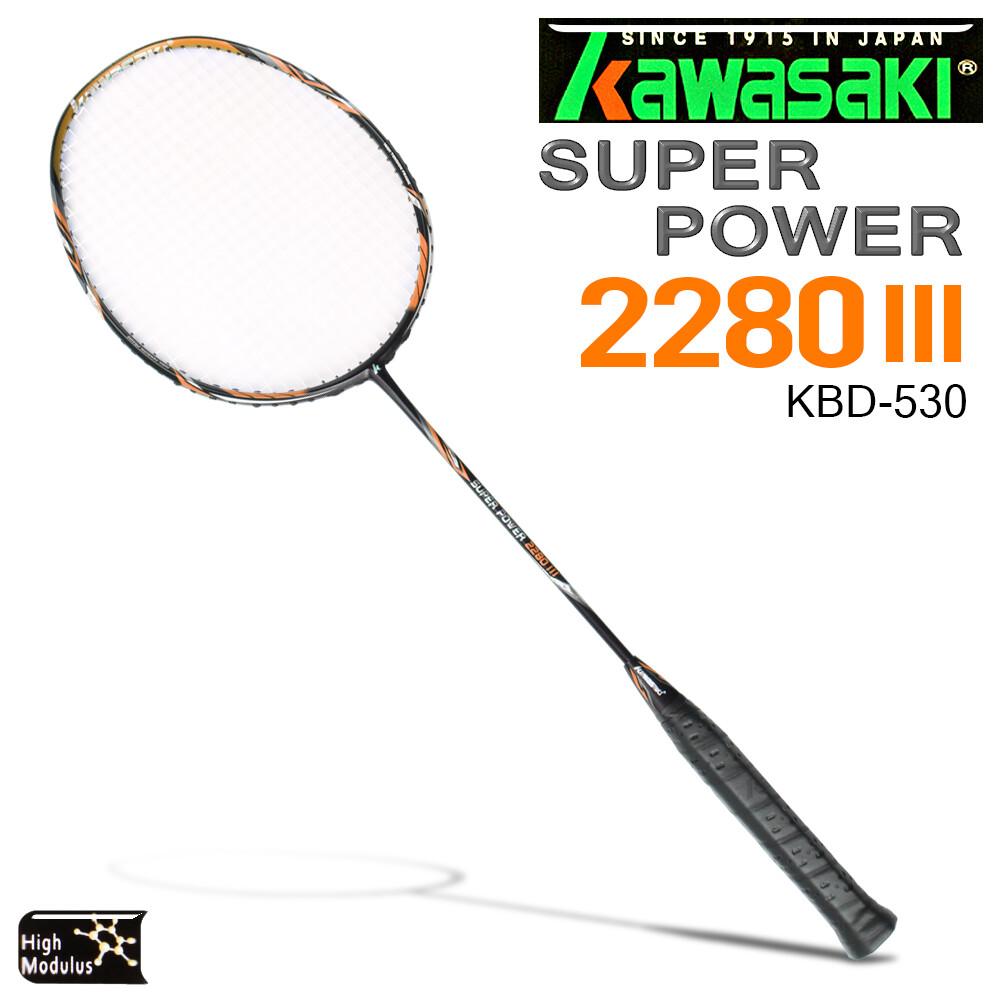 kawasaki kbd530 碳纖維超輕羽球拍(橘)--空拍