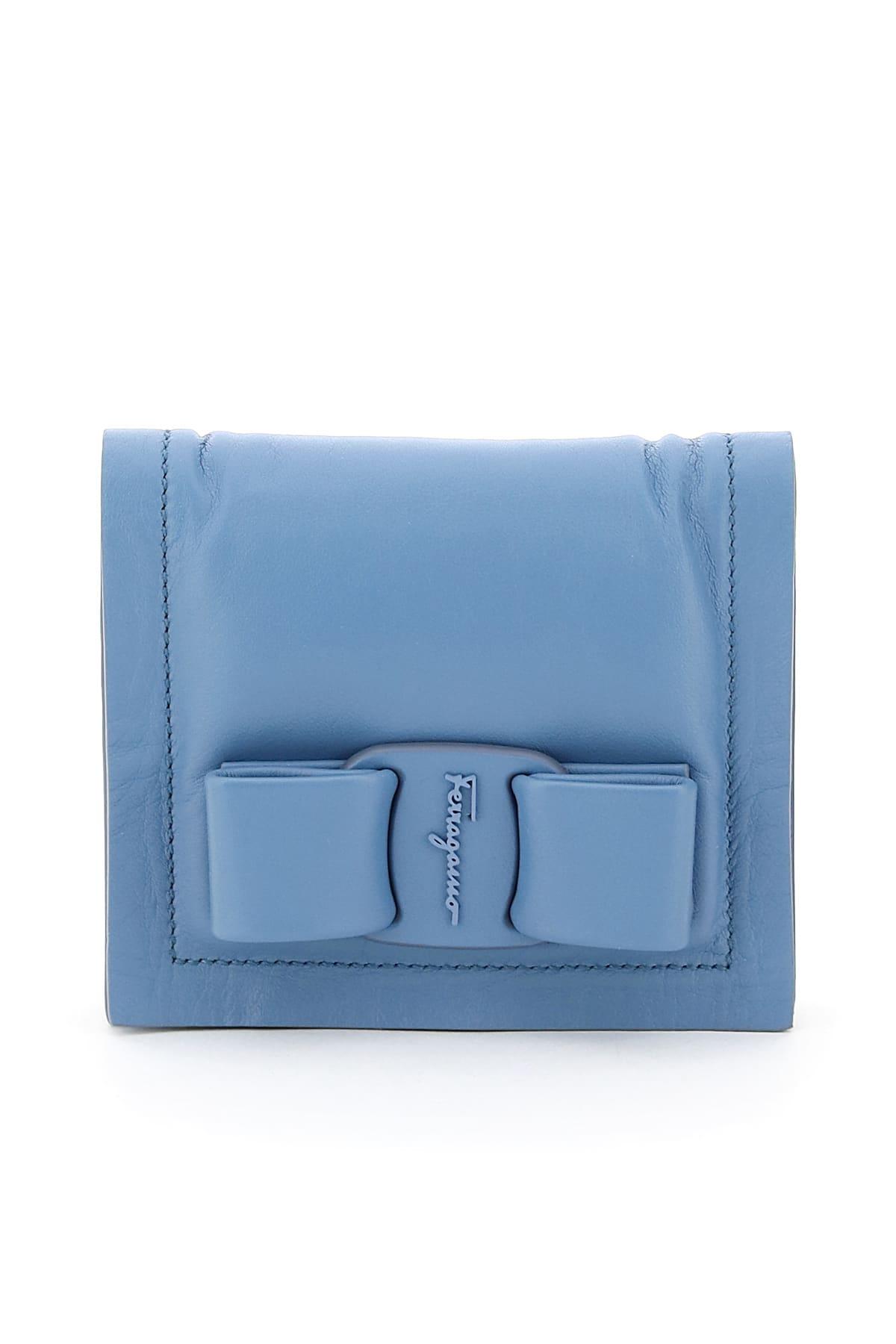Salvatore Ferragamo Viva Bow Compact Wallet