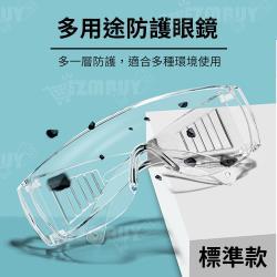 多用途透明防護眼鏡/護目鏡/防疫眼鏡(標準款)(2入)
