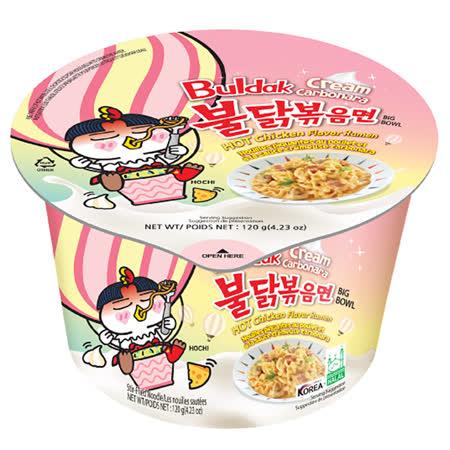 《韓國火辣雞-箱出》風味鐵板炒麵碗麵-加倍濃郁奶油120g*16入