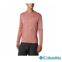Columbia 哥倫比亞 男款-涼感防曬30快排長袖排汗衫-紅色 UAM60830RD