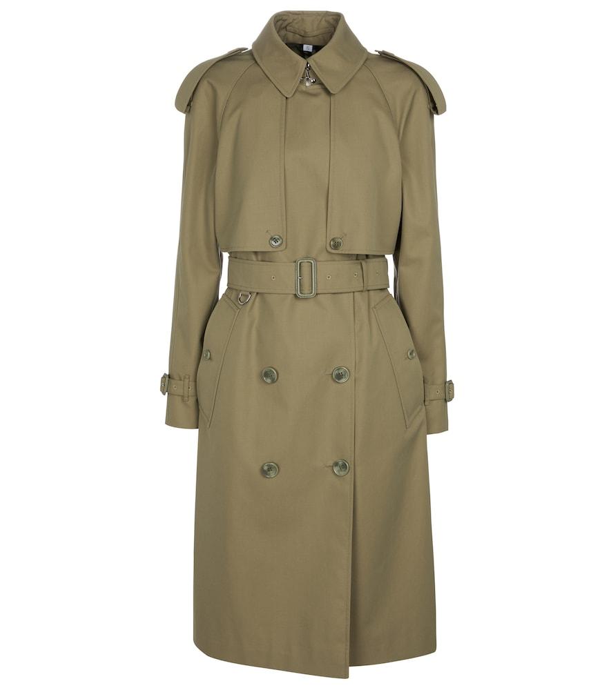 Cotton gabardine trench coat