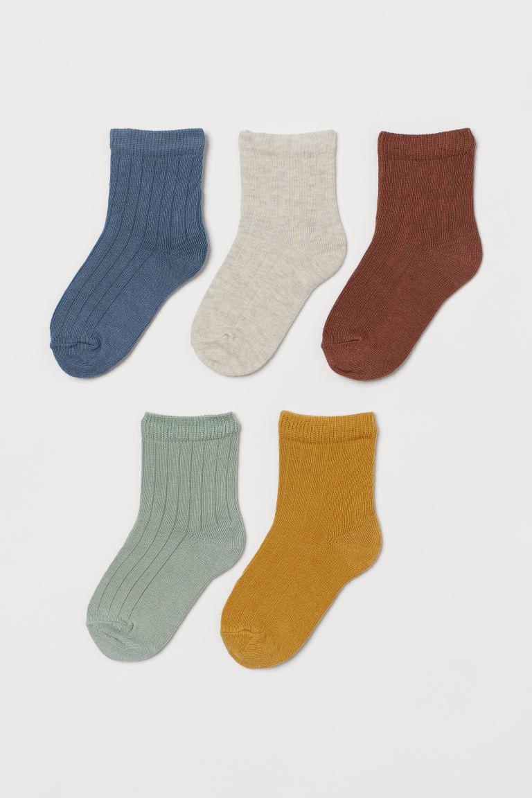 H & M - 5雙入襪子 - 黃色