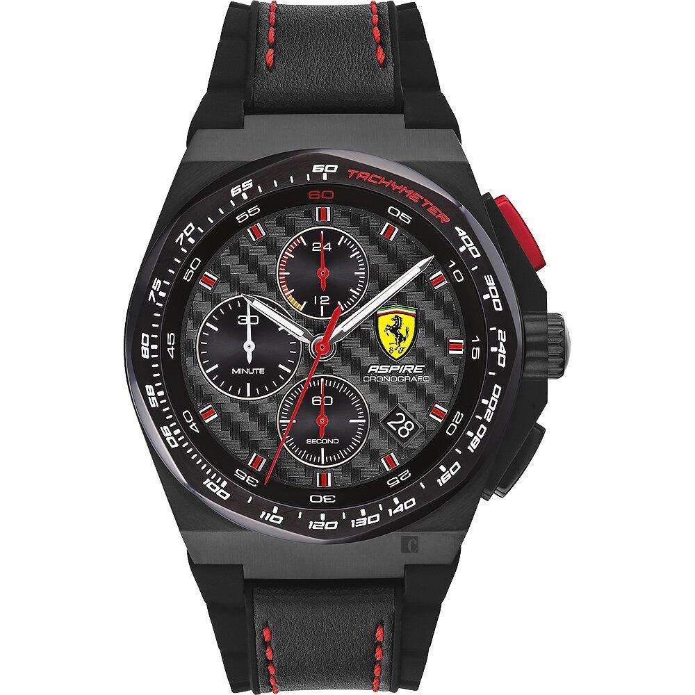 Scuderia Ferrari 法拉利 賽車計時手錶-44mm FA0830792