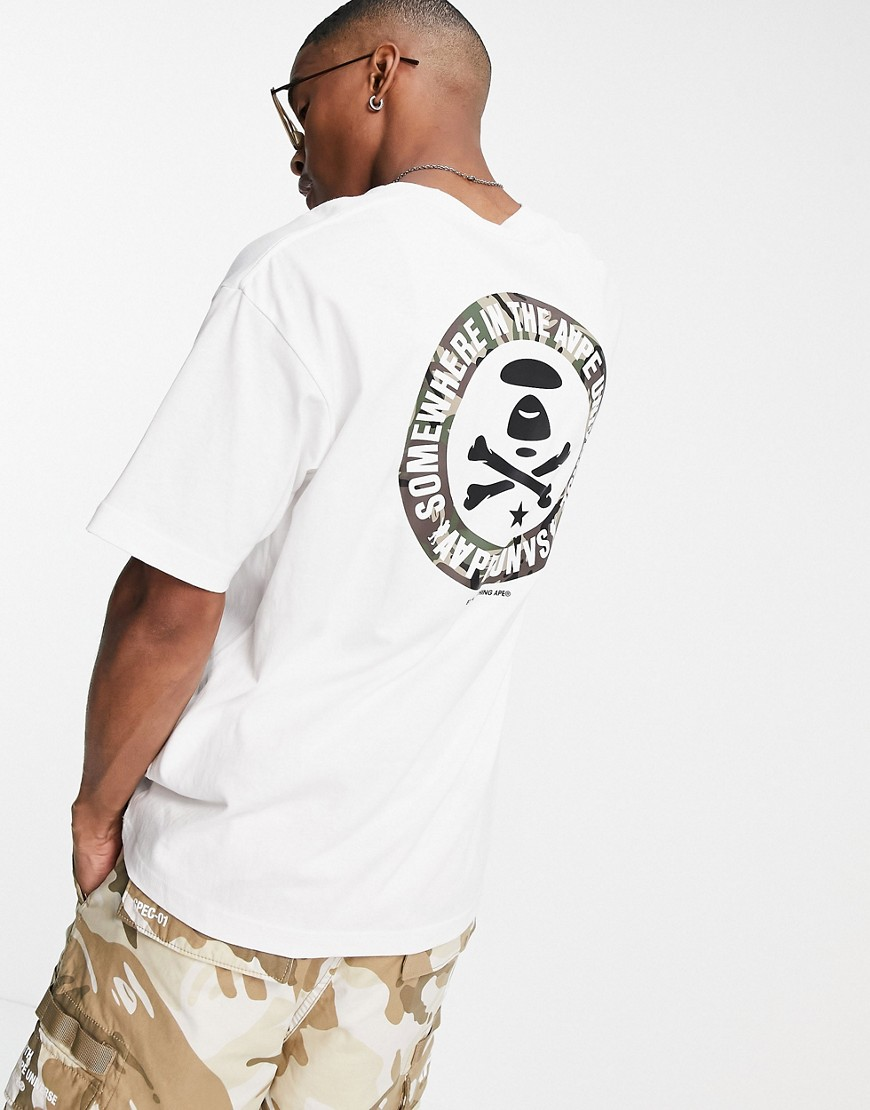 AAPE By A Bathing Ape aape universe back print t-shirt in white