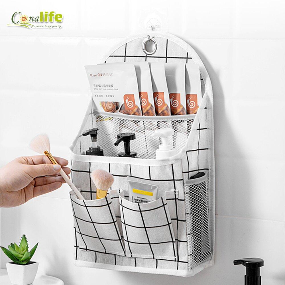 【Conalife】牆掛式宿舍浴室客廳萬用置物袋_1入組