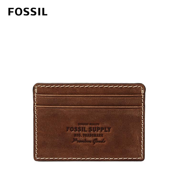 【FOSSIL】Russell 真皮卡夾-干邑色 ML4144222