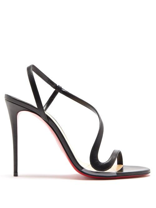 Christian Louboutin - Rosalie 100 Leather Sandals - Womens - Black