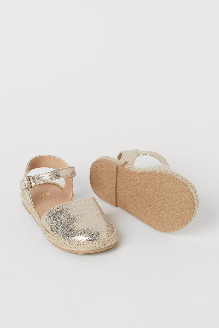 H & M - 涼鞋 - 金色