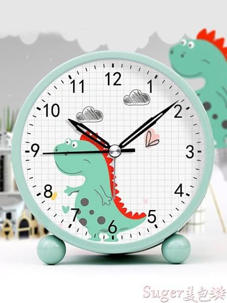 鬧鐘 鬧鐘學生用臥室靜音床頭夜光北歐簡約超大聲音兒童卡通可愛小鬧鐘 【618 大促】