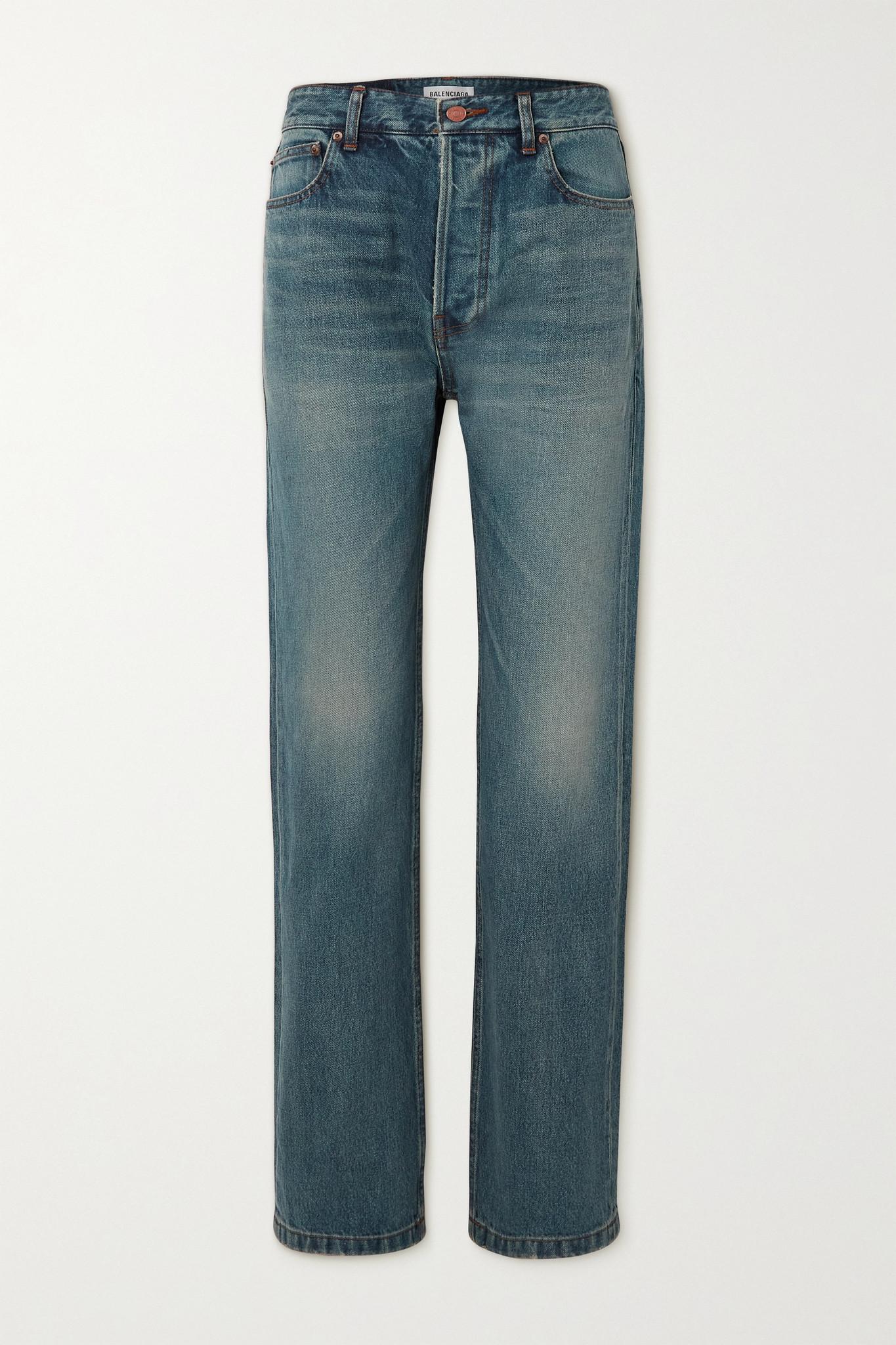 BALENCIAGA - Mid-rise Straight-leg Jeans - Blue - 24
