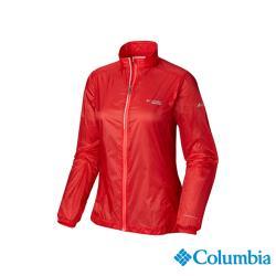 Columbia 哥倫比亞 女款- 野跑輕量Omni-Shield防潑風衣-橘紅 UAR26810AH