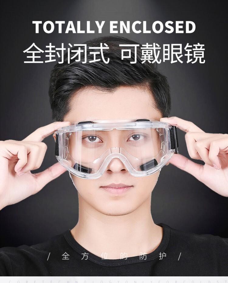 24h免運拼防疫防飛濺透明近視防塵風防護眼罩