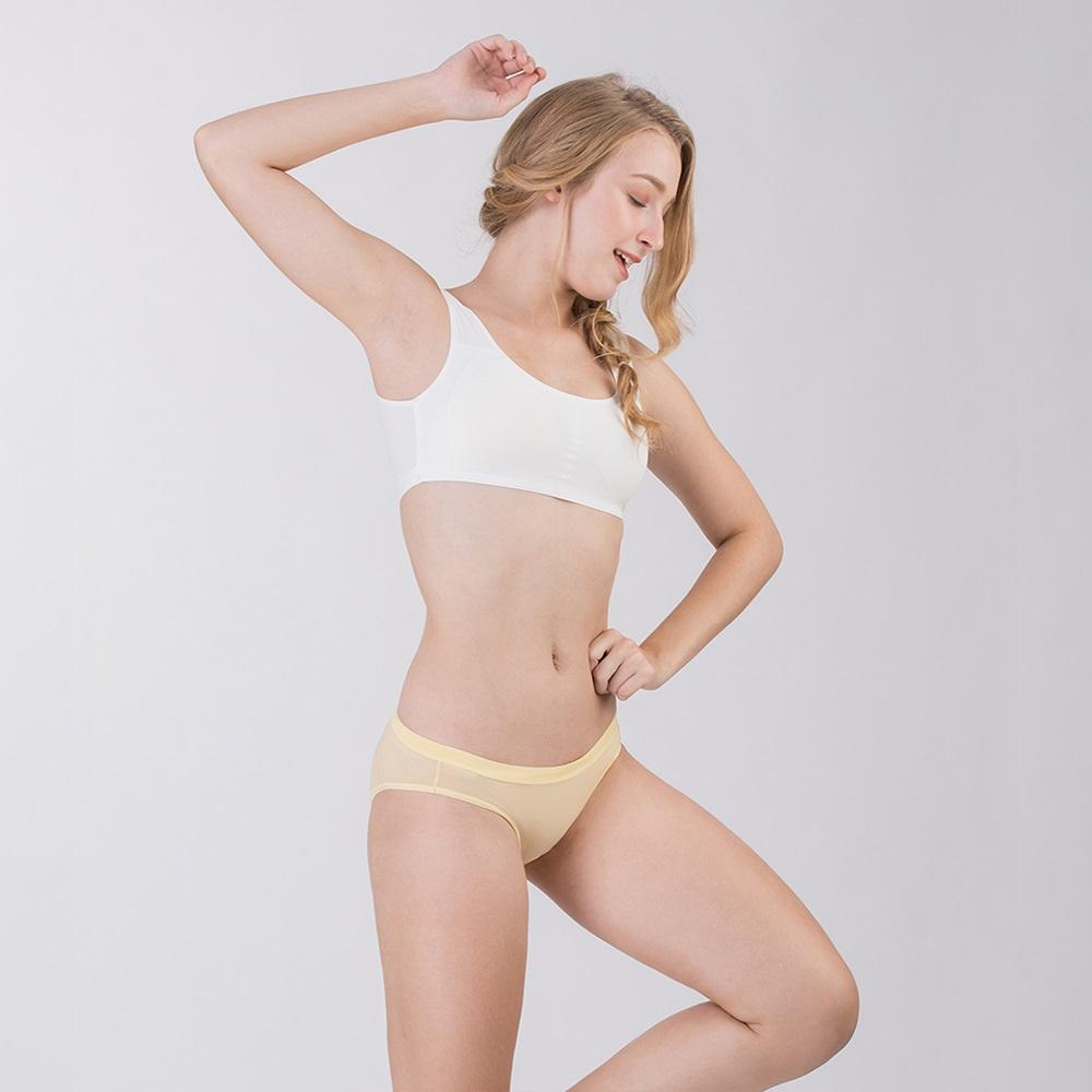 Pure5.5-性感美臀超低腰女三角褲-淡淺黃 (商品編號:V0700143)
