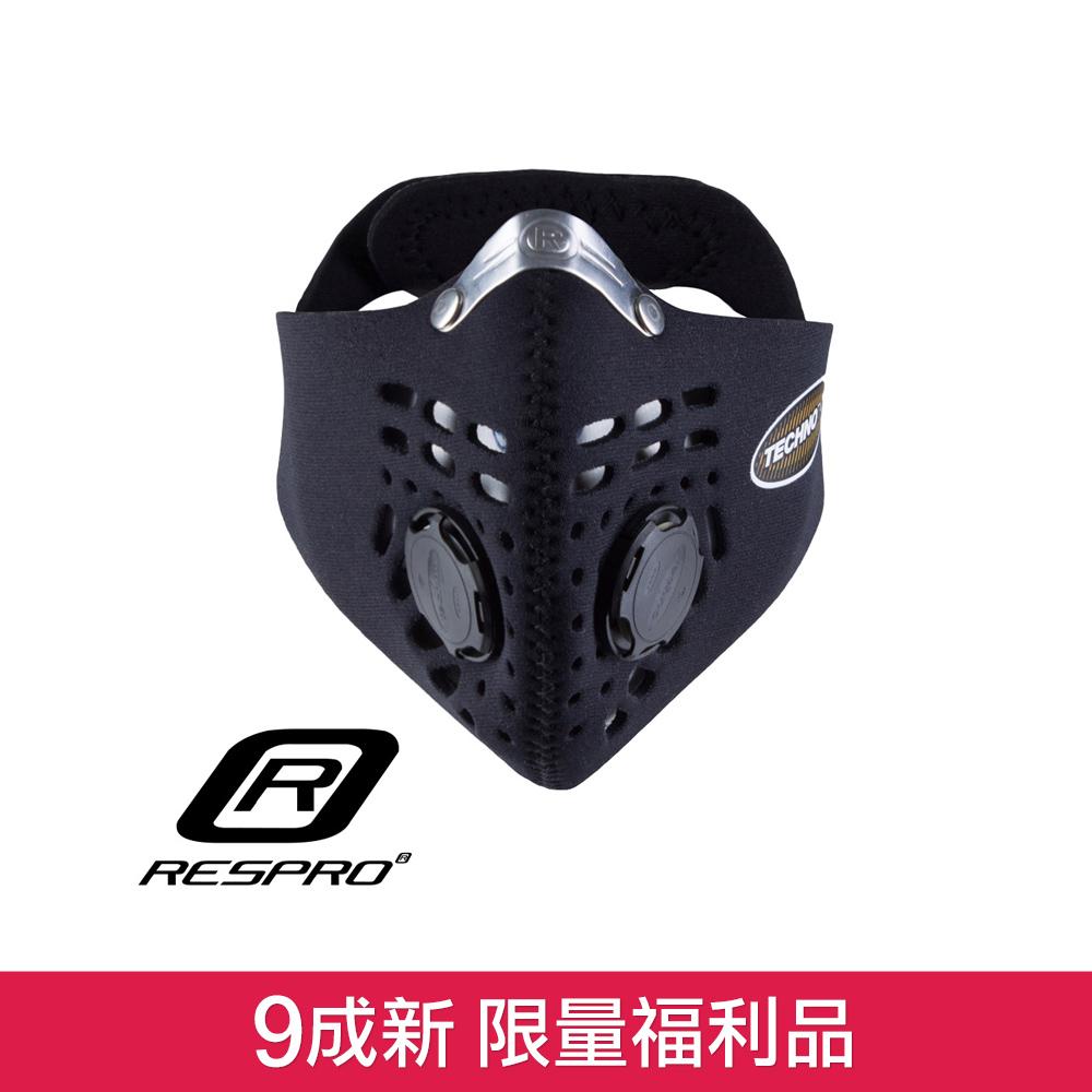 (9成新福利品)英國 RESPRO TECHNO 防霾競速騎士口罩( 黑色 )
