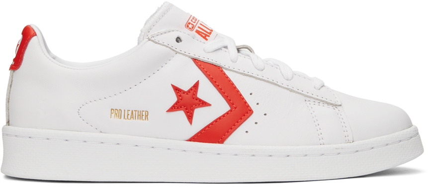 Converse 白色 Pro Leather OX 运动鞋