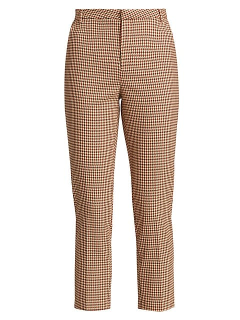 Ludivine Plaid Cropped Trousers